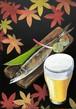 ビーラボ黒板アート塾 【秋刀魚とビール】