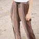 Printed pleats pants