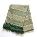 アルパカ 手織りストール green×beige