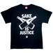 【SAKE Tシャツ】SAKE IS JUSTICE / ブラック