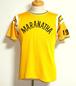 1960's MASON レーヨンアスレチックTシャツ アーチプリント 黄 表記(M)