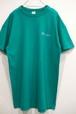 1980's Champion トリコタグ ワンポイントTシャツ 100%コットン エメラルド 表記(XL) チャンピオン