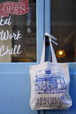 SHAKESPEARE AND COMPANY tote bag [Blue]