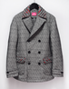 Melange wool Pea coat