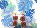 ハワイアンリボンレイ(レシピなし)【 ポインセチアのチャーム キット 2個セット】