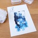 Post card / 誕生石シリーズ 3月 Aquamarine(アクアマリン/藍玉)