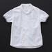 オープンカラーシャツ(丸衿) 白×灰+P
