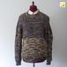 草木染 絹の手編みセーター