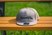 【送料無料】Flat Visor Cap [Gray] Leaves - StreetChic