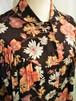 Vintage round collar flower blouse [H-204]