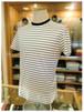 【 Les Copains 】 レ・コパン   - Italy -       クルーネック半袖Tシャツ   マリンボーダー