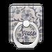 スマホリング スザニ刺繍・サックスブルーの花