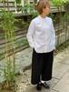 WOMENS:LILOU+LILY【リルアンドリリー】CREST EMBROIDERY WIDE SAROUEL PANTS(ブラック/ブラック:ワンサイズ展開38)紋章コード刺繍ワイドサルエルパンツ
