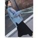 ハイネック ニット 長袖 ロング サイドスリット セーター ゆったり ルーズ レトロ タートルネック 厚い カジュアル シンプル