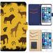 Jenny Desse iPhone 6/6S ケース 手帳型 カバー スタンド機能 カードホルダー イエロー(ブルーバック)