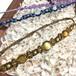 天然石のマクラメ編みアンクレットorブレスレット/花瓶(カーキ系×ゴールデンタイガーアイ)
