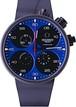 【メカニケ・ヴェローチ】クアトロヴァルヴォレ エボリューション44 クロノ カーフェアリング/ブルー スイスメイド腕時計