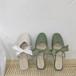 リボンサンダル ガーリー フェミニン 春夏 履きやすい フェミニン かわいい 靴 韓国
