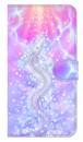【鏡付き Lサイズ】 Rainbow Dragon 輝く虹の昇り龍 手帳型スマホケース