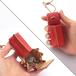 すおう染め革のコインケース&小物入れ【ham/はむ】 #草木染めレザー #手縫い #価格見直しました