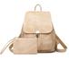 5820レディースリュック ファッション感たっぷりバック 通学バッグ 旅行リュックサック 肩掛けバッグ カジュアルショルダーバッグ PUレザー