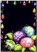 黒板の会 2016年6月号 紫陽花とカエル