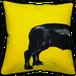 Jimmie Martin Cushions Yellow sausage dog [BACK]