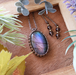 *Sunset  Purple* Labradorite Macrame Necklace