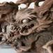 龍の彫刻蟇股