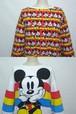 1990's MICKEY MOUSE リバーシブルスウェット ホワイト×レッド ウィメンズフリーサイズ ミッキーマウス