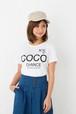 5.6oz プリントTシャツ 半袖|「ココ!チャンスですよ!」的な「COCO CHANCE」 | XS~Lサイズ、メンズ・レディース、お揃い・ペアルック