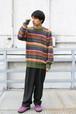 Multi Color Border Knit