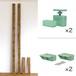 【棚セットS】 LABRICO ラブリコヴィンテージグリーンと2×4材ジャコビアン(BRIWAX) 取付幅~2438mm カット無料/送料無料 JXV-32