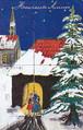 古絵葉書エンタイア「新年のカード」(1905年)