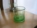 琉球ガラス 廃瓶から生まれた希少なグラス 透きらせん巻ロックグラス緑/コカ|琉球ガラスみんるー商店