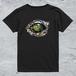 Alligator-eye Tシャツ/ブラック*レディース【色鉛筆手描きデザイン】