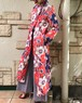 70s floral print quilting  coat