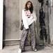 【ボトムス】ファッション春秋ハイウエストヒョウ柄カジュアルパンツ26605570