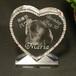 写真彫刻 クリスタルオブジェ【スワロハート】 商品ID:CO-0201         ギフト包装無料 送料別途(サイズ60)