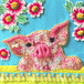 A little pig with flower