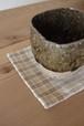 手染め手織りのコースター リバーシブル2枚セット