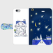 iPhone6/6s 星の花降る夜に 手帳型スマホケース