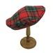 チェックベレー帽(RED×GREEN)A