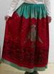 フリーサイズ【アメリカ製古着】リアルインド民族衣装◆豪華な鷲のスパンコール×ビーズ細工◆マキシ丈スカート