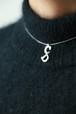 Christian Dior silver tone necklace