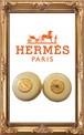【HERMES】レザーイヤリング