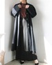 Black angora long coat