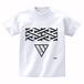 ERICH / GEOMETRY TRIANGLE T-SHIRT WHITE