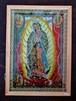 メキシコ/ 電球入り/  マリア 光る壁掛け / ガラス入り/ グアダルーペ/ ポスター カトリック/ お守り