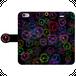 #024-010 iPhone8対応 病み系・メンヘラ系  オリジナルデザイン 《立ち入り禁止・カラー黒》 手帳型iPhoneケース ・ 手帳型スマホケース 全機種対応 作:秋夜 Xperia ARROWS AQUOS Galaxy HUAWEI Zenfone